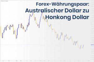 Forex Wechselkurs des Währungspaares Australischer Dollar zu Hongkong Dollar
