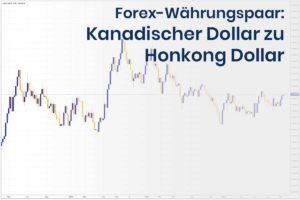 Forex Wechselkurs des Währungspaares Kanadischer Dollar zu Hongkong Dollar