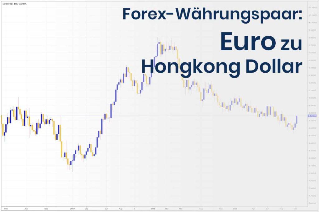 Forex Wechselkurs des Währungspaares Euro - Hongkong Dollar