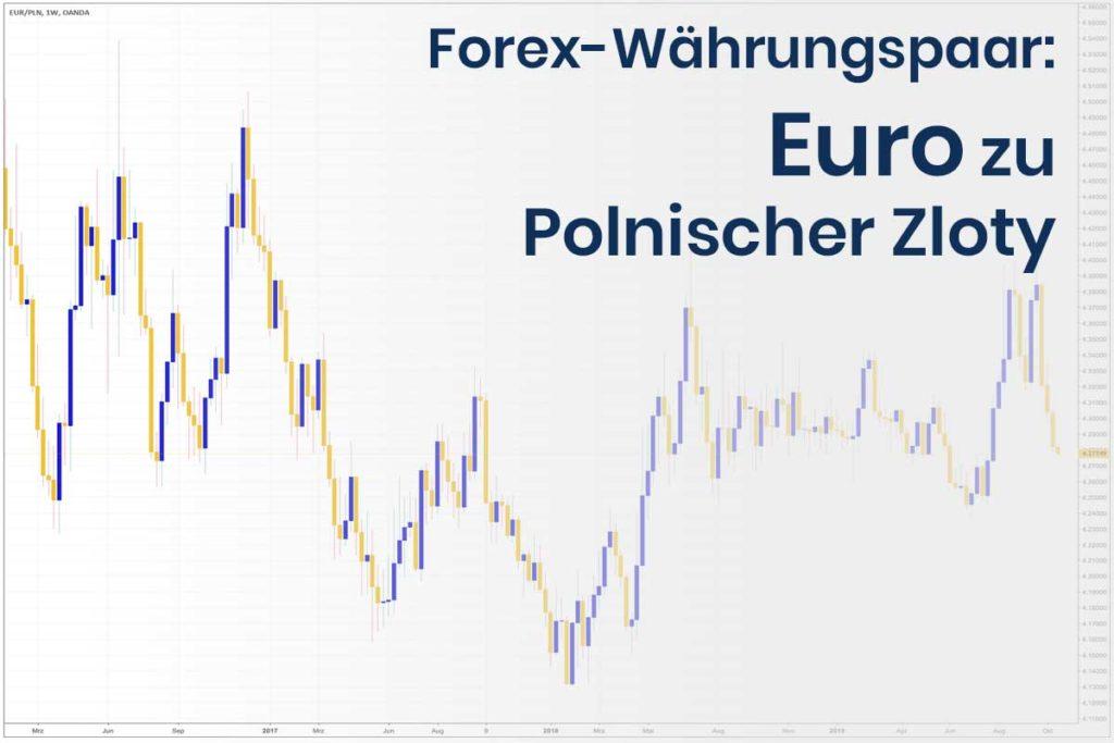 Forex Wechselkurs des Währungspaares Euro - Polnischer Zloty