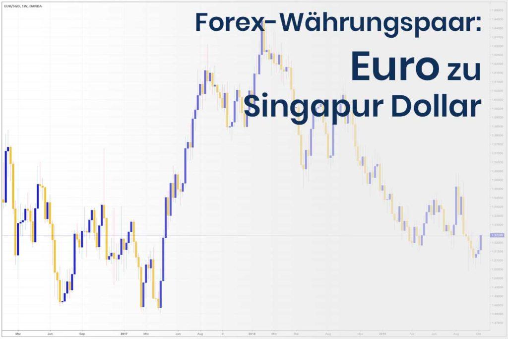 Forex Wechselkurs des Währungspaares Euro - Singapur Dollar