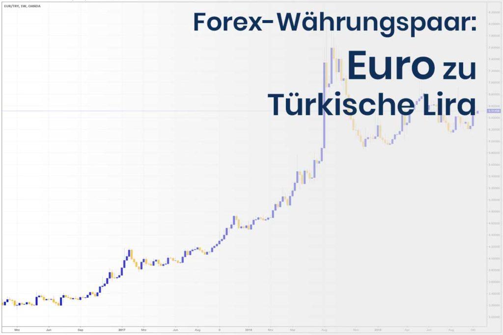 Forex Wechselkurs des Währungspaares Euro - Türkische Lira