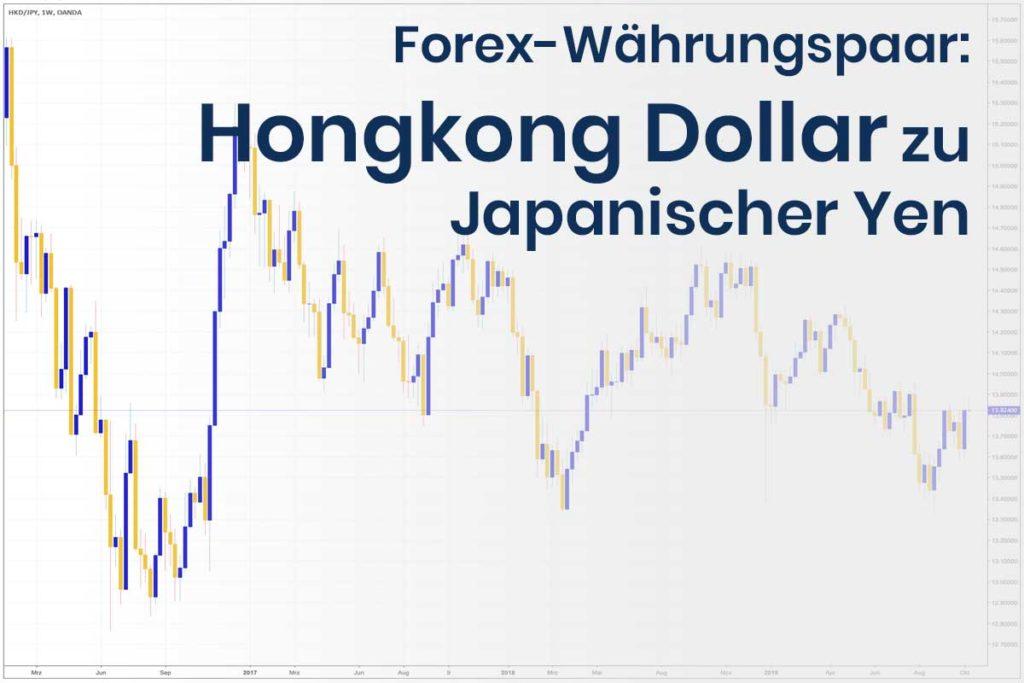 Forex Wechselkurs des Währungspaares Hongkong Dollar - Japanischer Yen