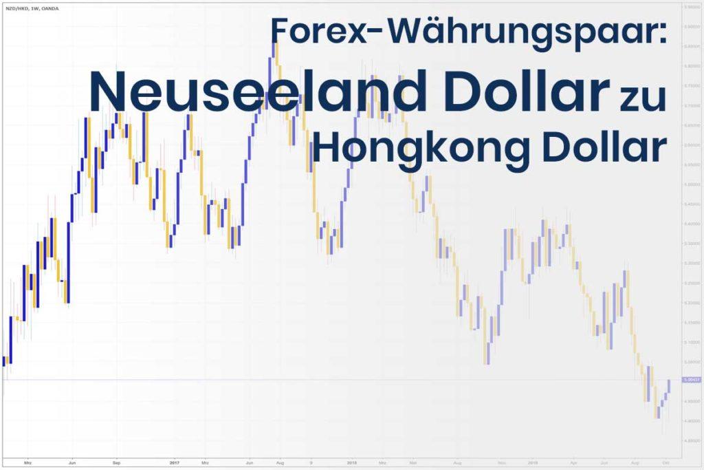 Forex Wechselkurs des Währungspaares Neuseeland Dollar - Hongkong Dollar
